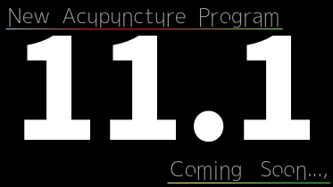 New Acupuncture Program