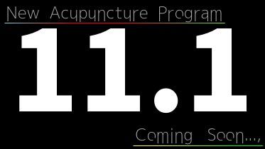 New Acupuncture Program