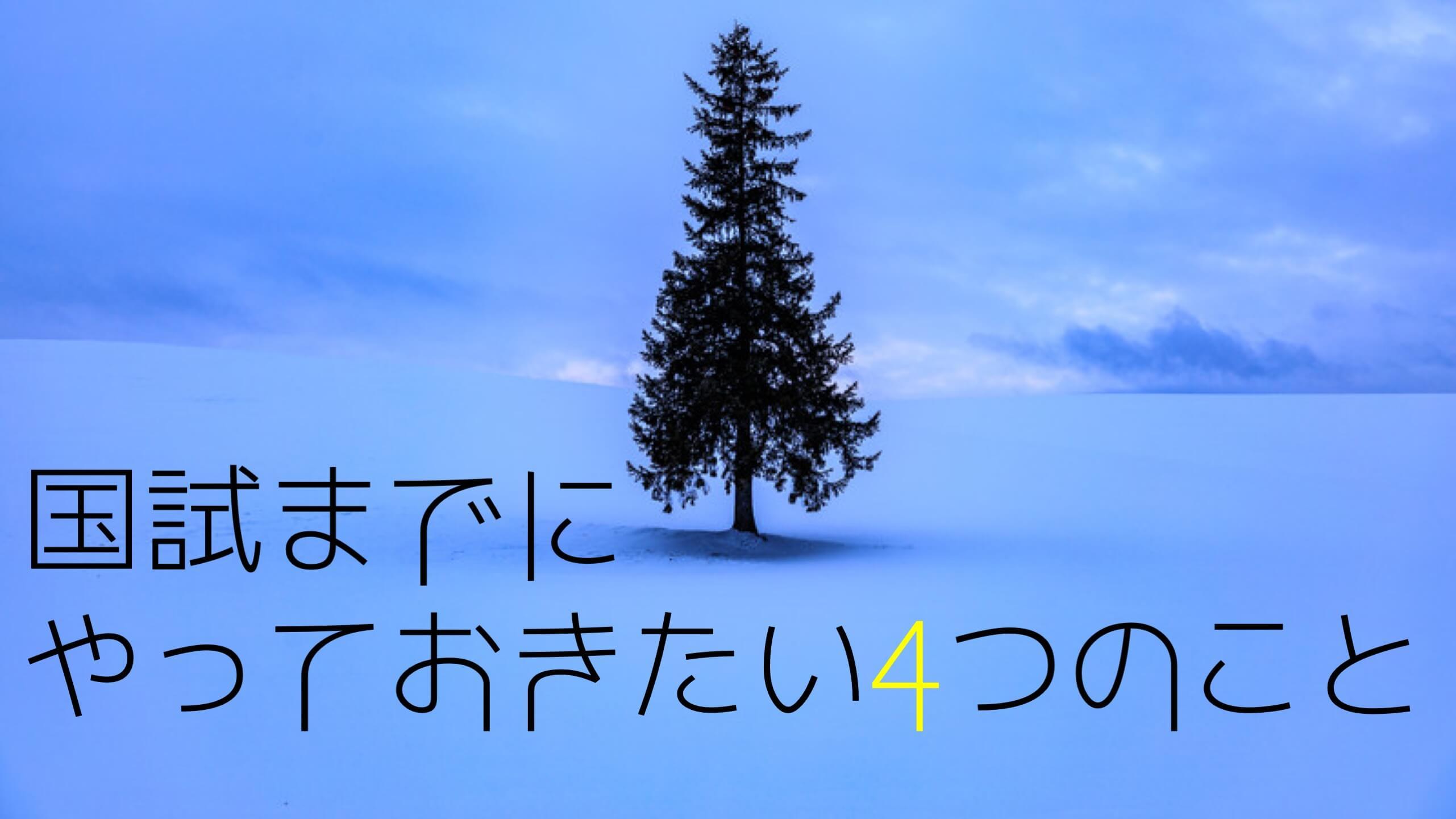 【鍼灸国試対策】冬から試験までにすべき4つの事【2019年度】